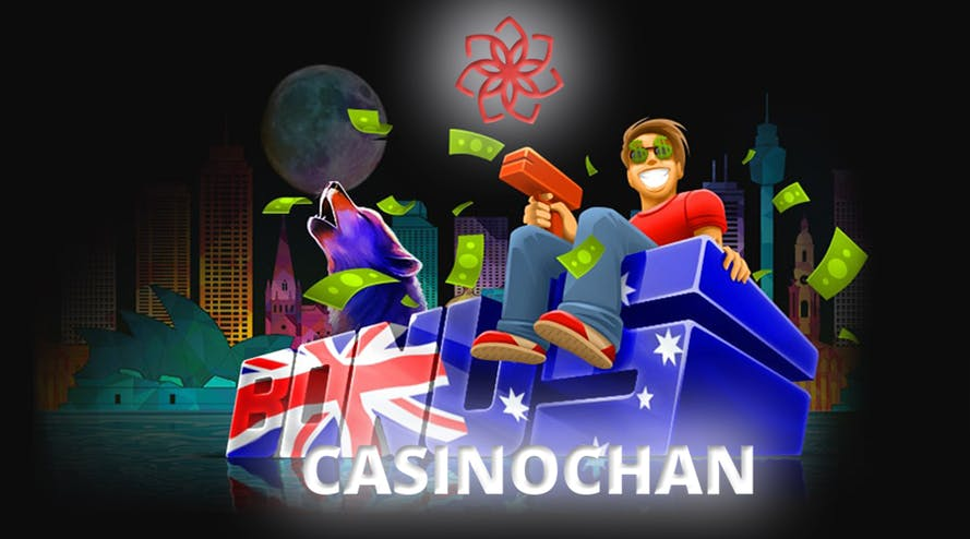 Casinochan stars offering welcome bonuses up to A$1500 + 120 free spins