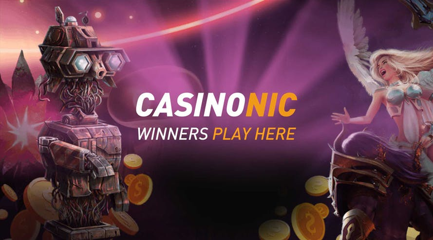 Casinonic matches your first five deposits up to A$1800 total