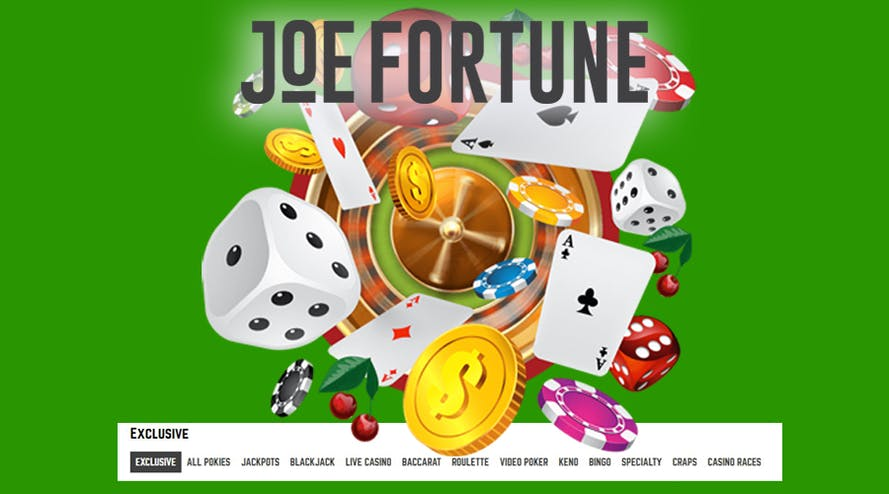 Deposit with Bitcoin and get up to $2,500 + 30 free spins as Joe Fortune WELCOME PACKAGE