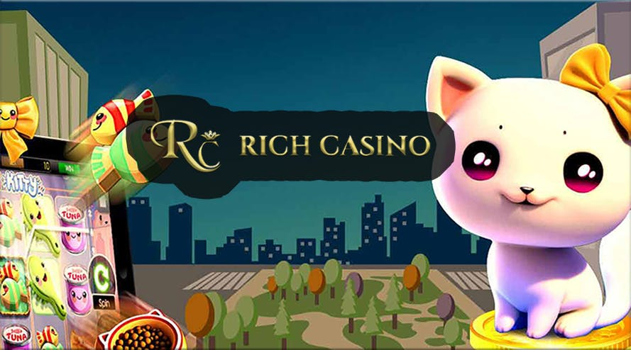 Rich Casino A$1500 welcome bonus includes 25 free spins