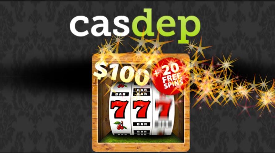 Casdep online casino doubles your first deposit as a bonus