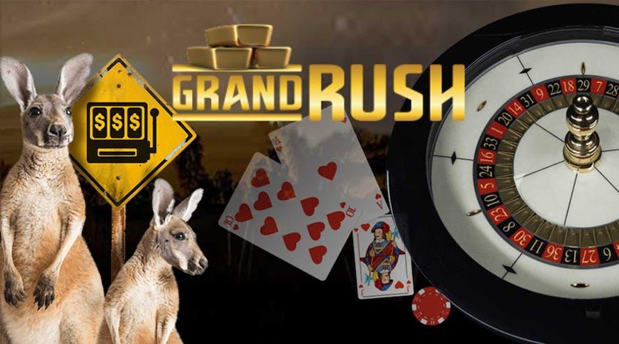 Grand Rush online casino features welcome bonus for beginners
