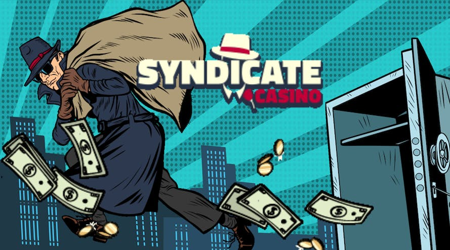 Syndicate Casino offers a 125% welcome bonus + 200 free spins