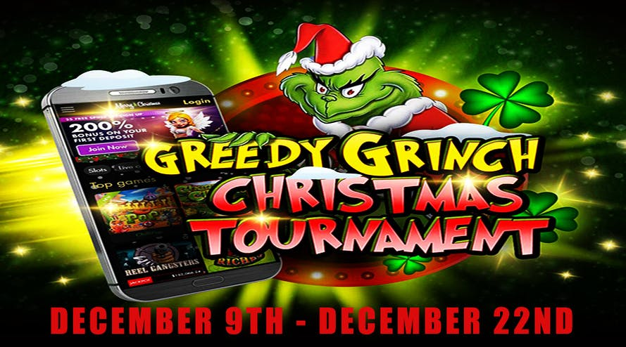 Join the 7reels Casino Greedy Grinch Christmas Tournament to win A$15.000