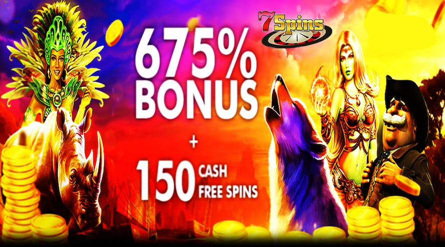 Get 675% welcome bonus plus 150 free spins with the 7Spins сasino