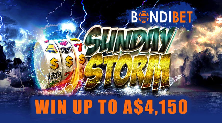 Sunday Storm with BondiBet gives a chance to win up to A$4,150