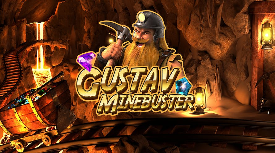 Find precious stones and treasure with the new slot Gustav Minebuster