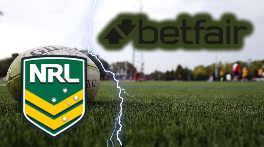 Betfair has resigned from its partnership with the National Rugby League