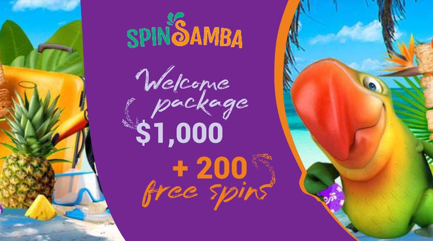 SpinSamba casino offers $1000 in bonuses and 200 free spins