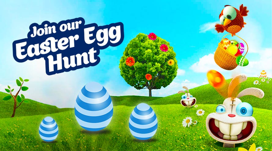 It's time for fun and surprises: Easter Egg Hunt by Winward casino