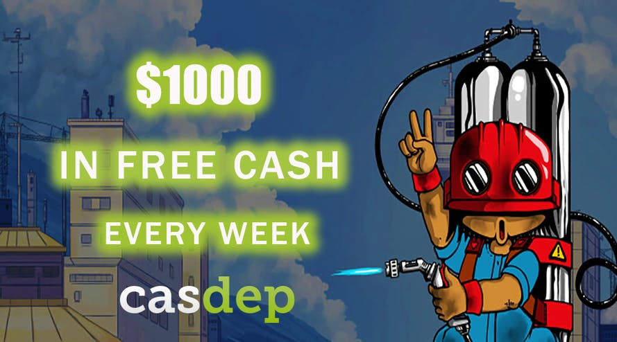 Compete for wager free $1000 with Casdep casino every week