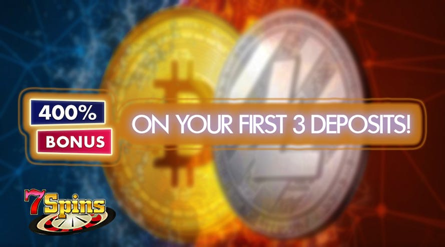 Crypto payments can bring you a 400% bonus with 7Spins Casino