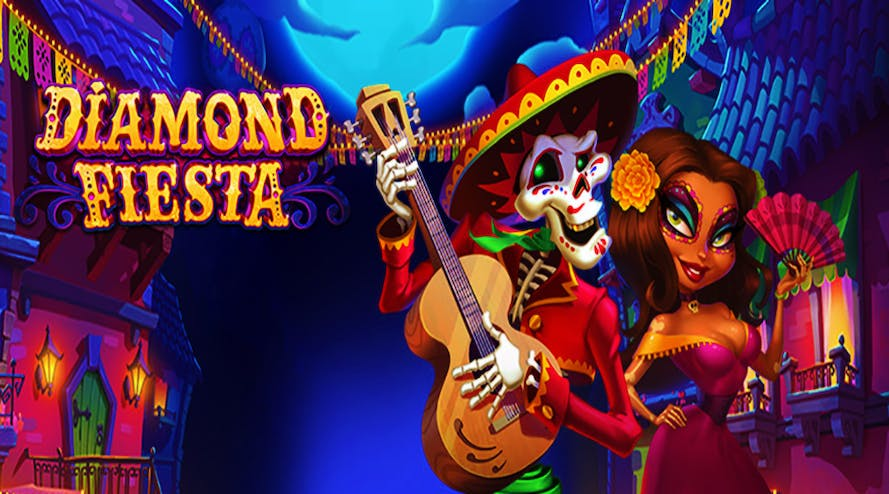 Day of the Dead celebrations with a new Diamond Fiesta slot released by RTG