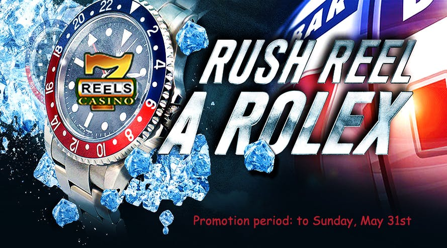 Don't miss your chance to win a Rolex watch at 7Reels casino