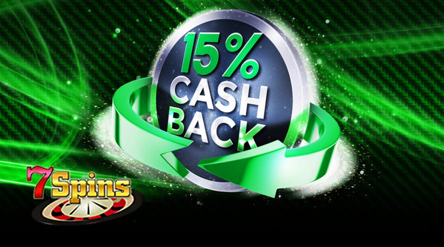 Every Monday get back 15% with the Weekly Loyalty Cashback by 7Spins casino
