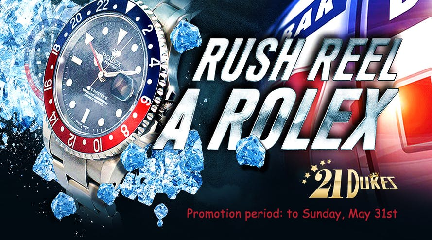 It's not too late to win a Rolex watch at 21Dukes casino