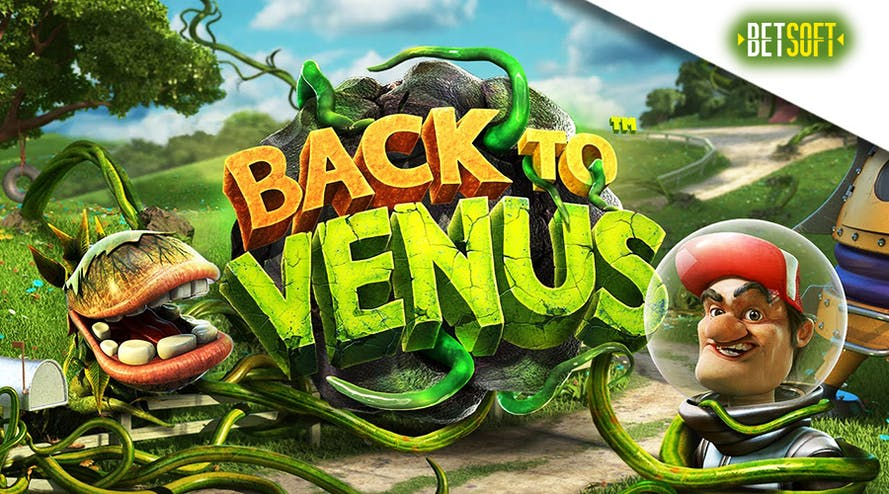 The surreal outer space world is waiting for you in the Back To Venus slot game