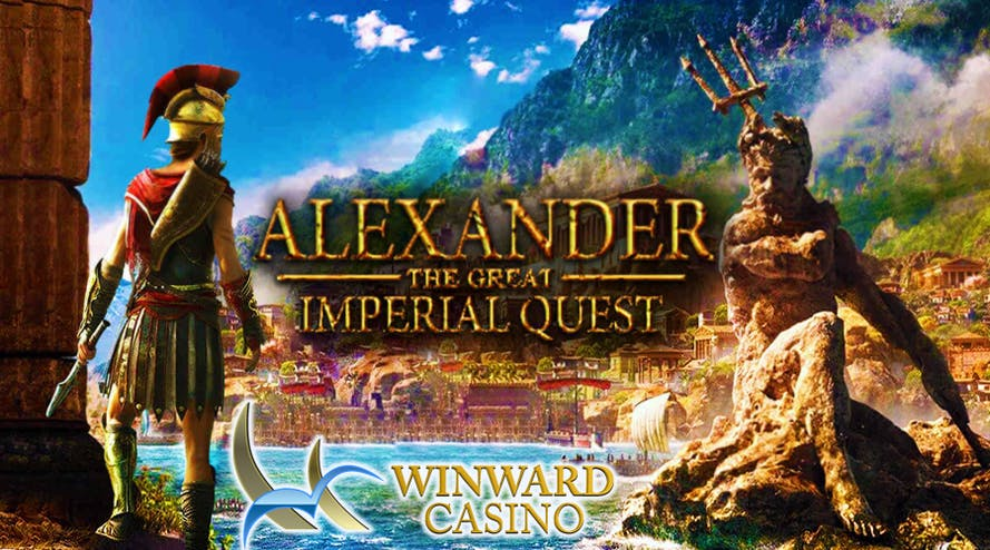 Imperial Quest promotion by Winward Casino offers daily prizes and a $20,000 value Amazon voucher