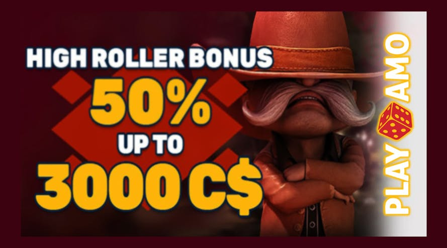Play big with High Roller Bonus promotion by PlayAmo and get up to A$3000