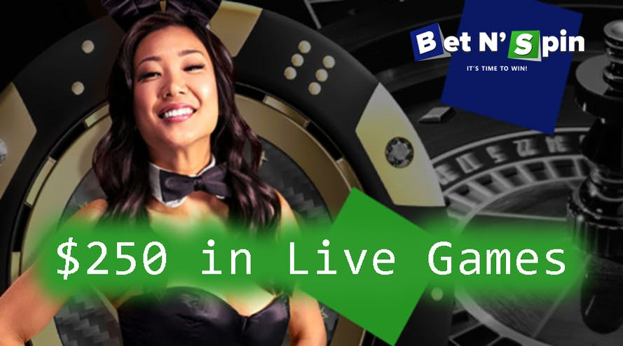 BetNSpin welcomes you with the 100% up to $250 Live Casino Welcome Bonus