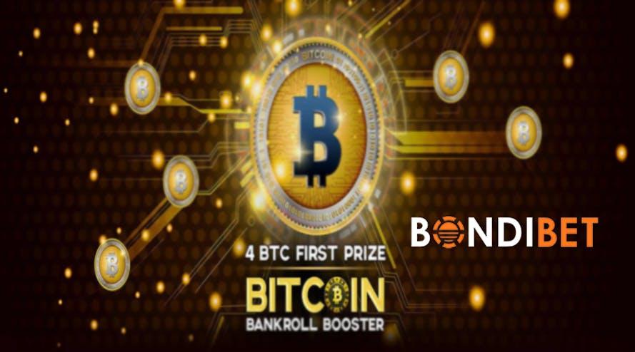 Bitcoin Bankroll Booster is ON with Bondibet casino