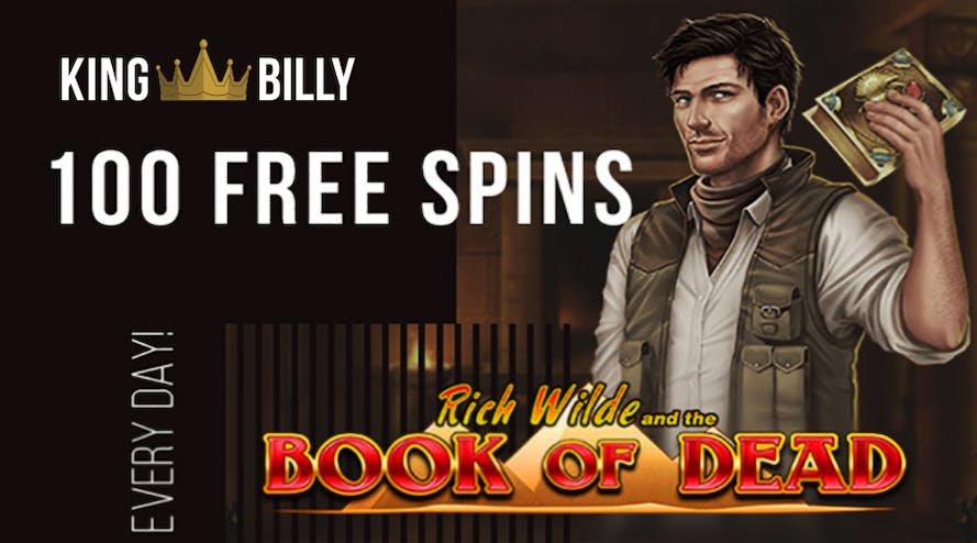 Spin and Win 100 daily free spins with King Billy