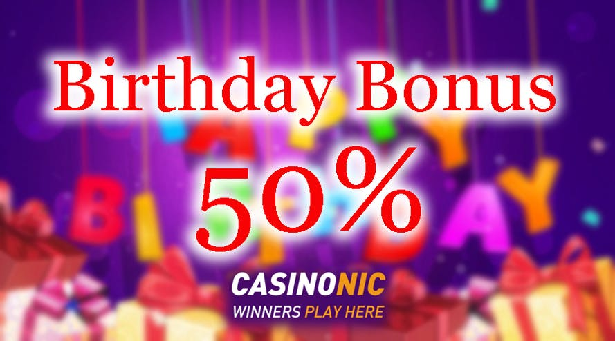 The Casinonic online casino plays happy birthday to you