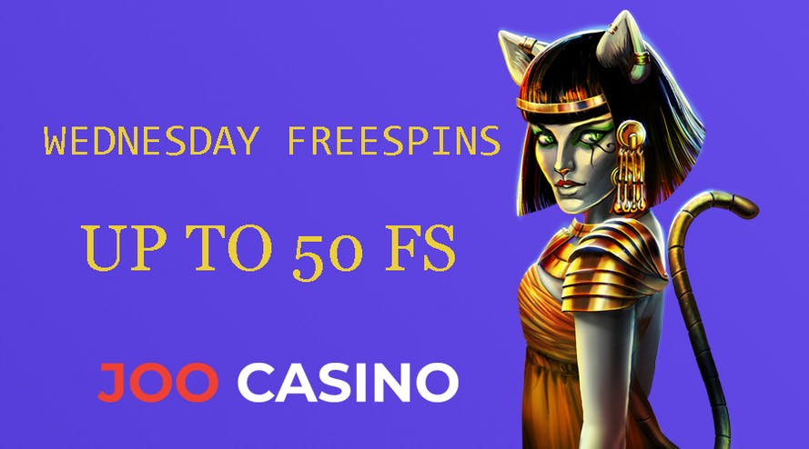Wednesday is the free spins day with Joo Casino