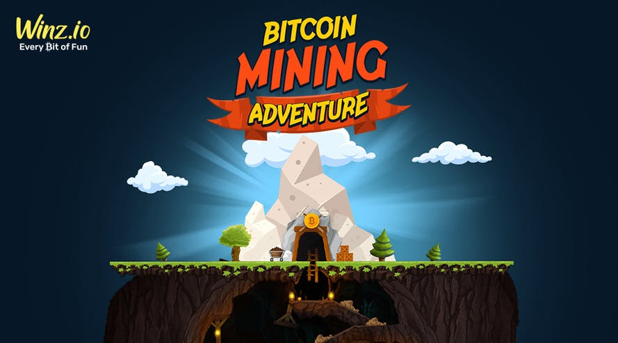 Start Bitcoin Mining Adventure by simply playing your favorite games with Winz